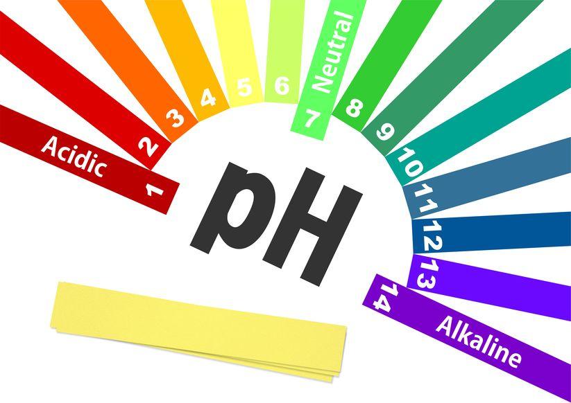 imagem de uma escala de pH