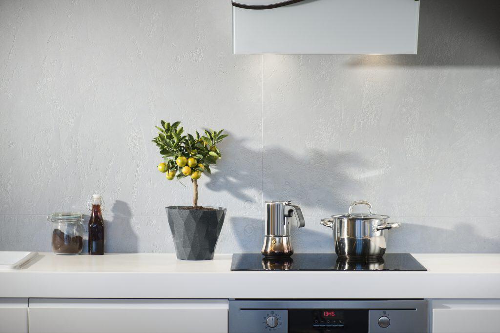 Imagem de um cooktop elétrico.