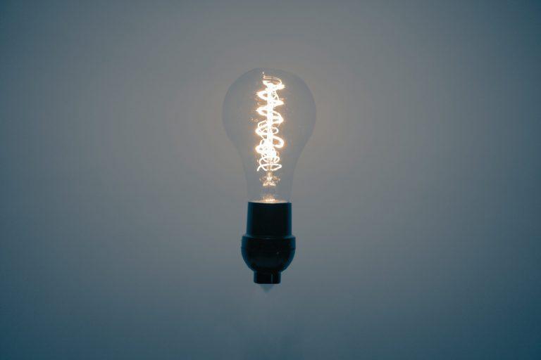 Imagem de uma lâmpada.