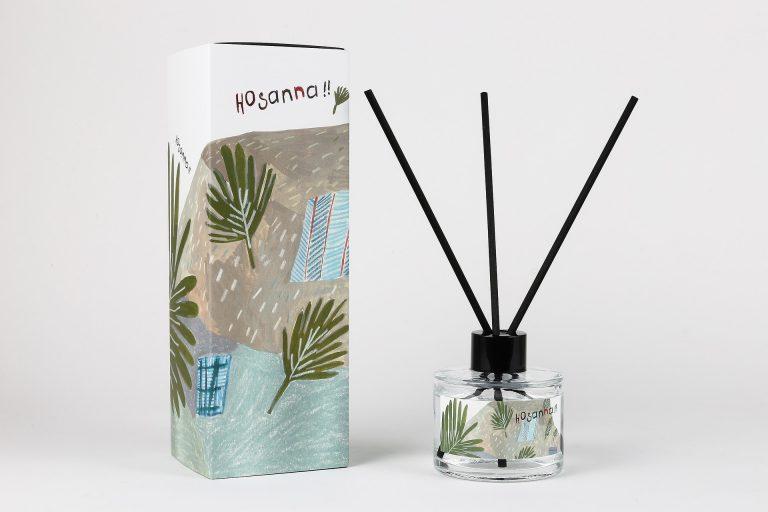 Imagem de aromatizante de ambientes em embalagem de vidro com varetas