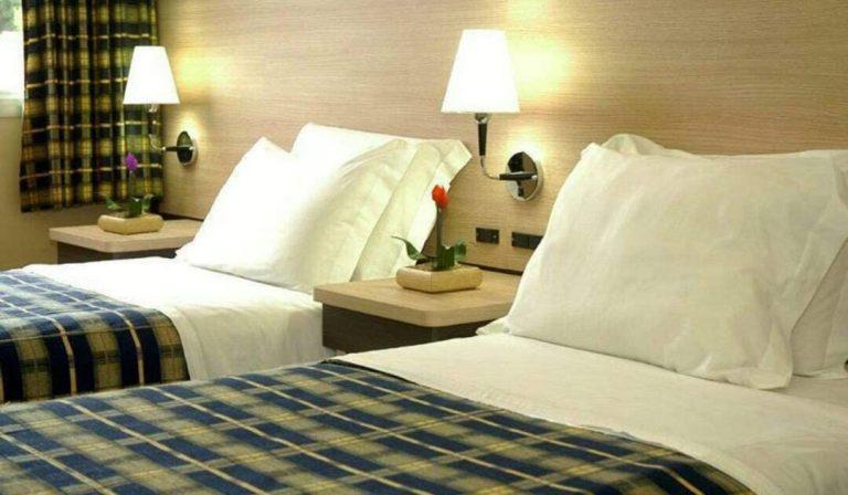 Imagem de um dormitório.