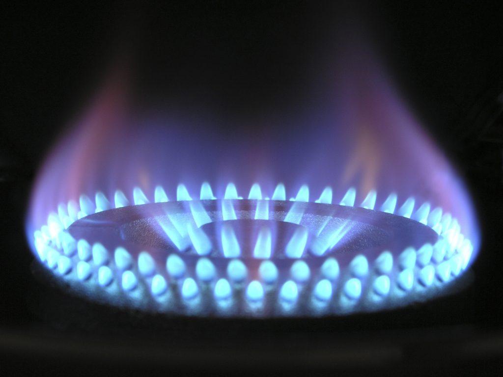 Imagem de um queimador triplachama.