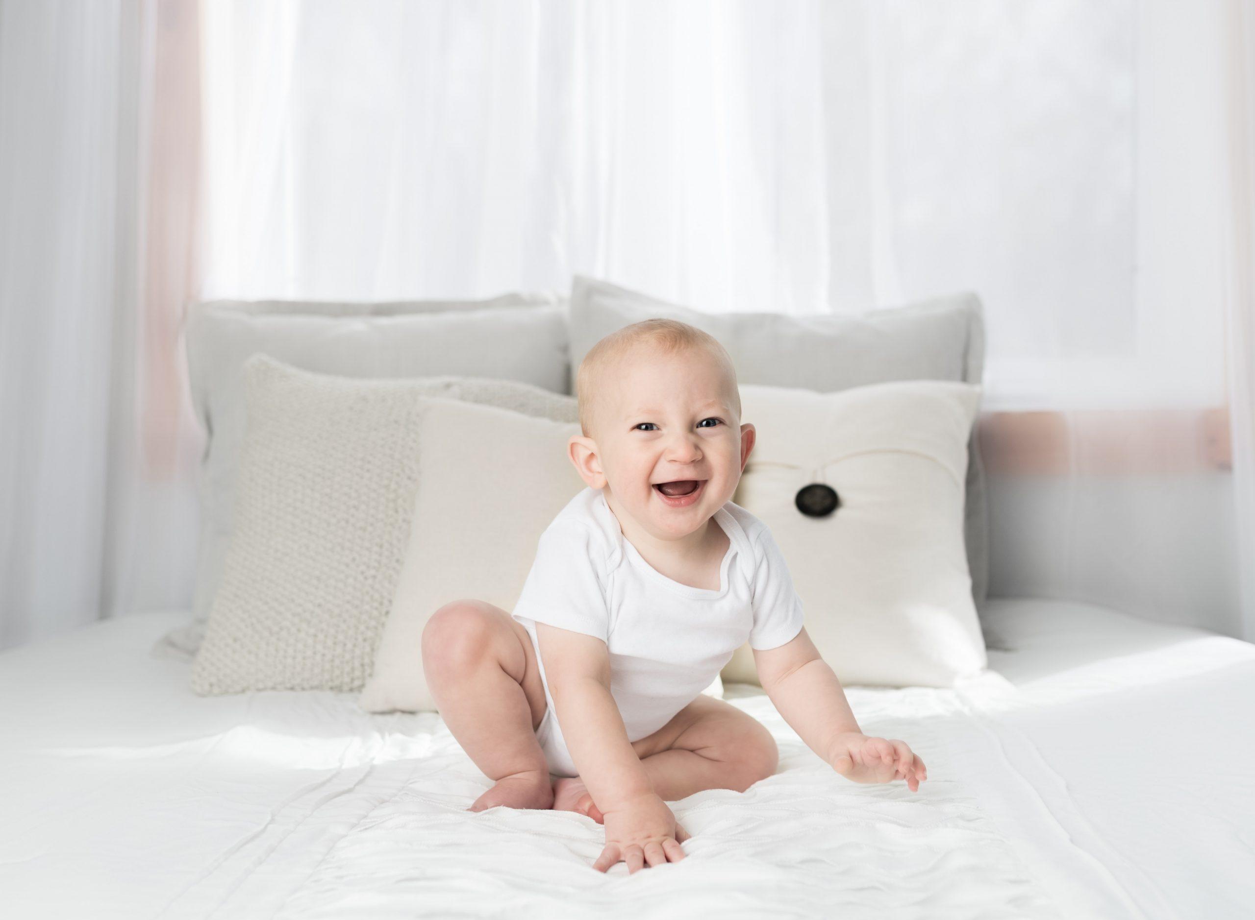 Imagem de um bebê,