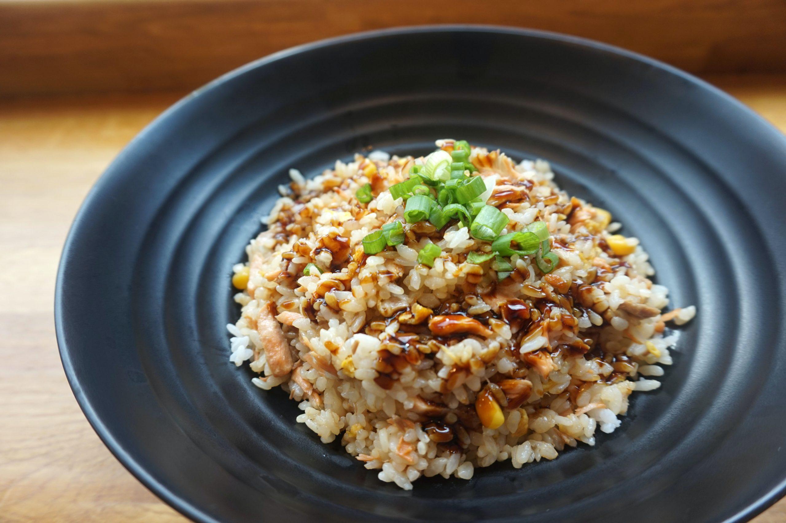 prato com arroz integral feito na panela elétrica
