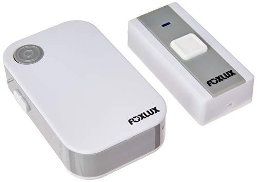 Campainha Digital sem Fio Foxlux – 36 toques – 3 Pilhas AAA – 1 Campainha + 1 Acionador + 1 Bateria p/acionador – Resistente a chuva – Alcance até 100m – Branco