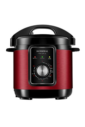 Panela de Pressão Elétrica Mondial, Pratic Cook 3L, 220V, Vermelho, 700W - PE-47-3L-RI