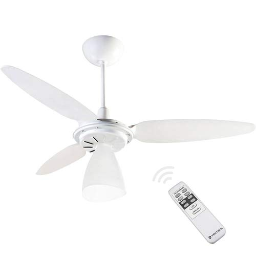 Ventilador de Teto Ventisol Wind Light com Controle Remoto 3 Pás Luminária Branco - 127V