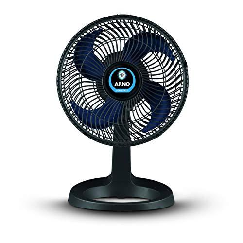 Ventilador Super Force Repelente, Arno, Preto/Azul, 110V