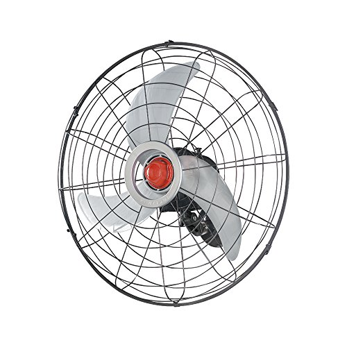 Ventilador de Parede Oscilante, Power, Preto/Prata, 70cm, Bivolt, Ventisol