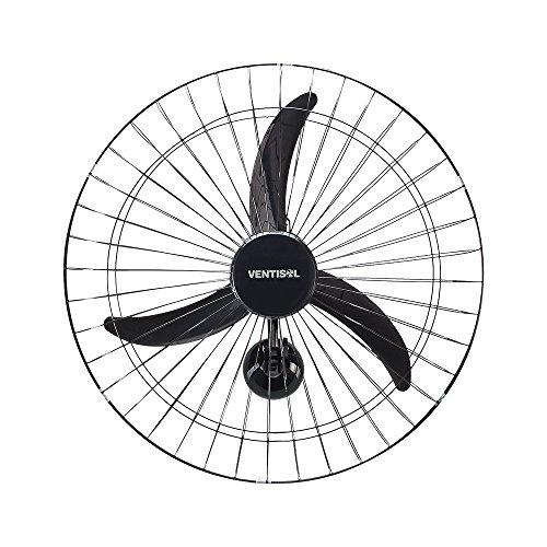 Ventilador de Parede Oscilante, 3 Pás Premium, Preto, 60cm, 127v, Ventisol