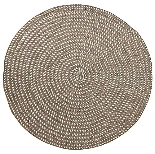 Tapetes de área redondos feitos à mão, para sala de estar, quarto, estúdio, cadeira de computador, tapete de base redondo, tapete de elevação, cesta giratória, tapete de mesa de café