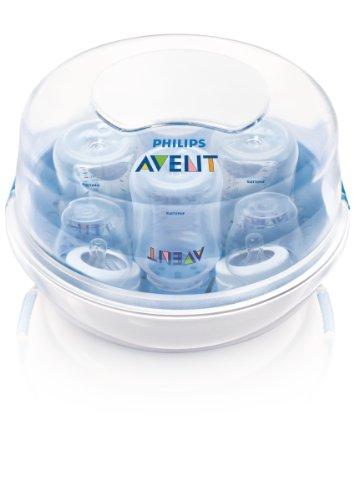 Philips Avent Esterilizador a vapor para micro-ondas para mamadeiras, chupetas, copos e mais