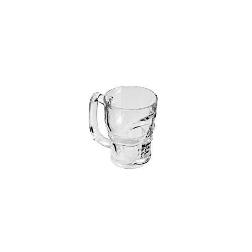 Caneca para chopp e Cerveja de Vidro Caveira Rock Style 365 ml Lyor Transparente no Voltagev